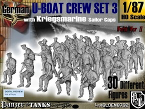 1-87 German U-Boot Crew Set3 in Frosted Ultra Detail