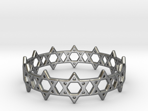 David Bracelet 65 in Fine Detail Polished Silver