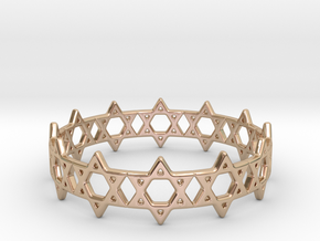 David Bracelet 65 in 14k Rose Gold Plated