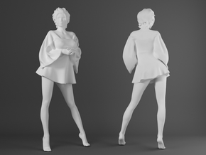 Skirt Girl-006-scale 1/32 in Smooth Fine Detail Plastic