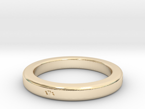 Heart Ring Size 7 in 14K Yellow Gold