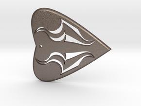 HEART 1 in Polished Bronzed Silver Steel