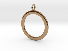 Ring-shaped pendant — smooth in Polished Brass