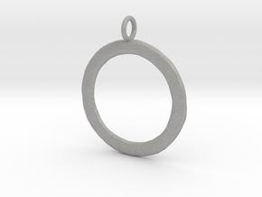 Ring-shaped pendant — rough in Aluminum