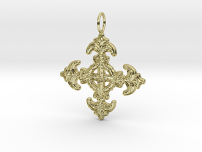 Kreuz Barock  in 18k Gold Plated