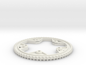 63T-11P centertrack beltwheel in White Strong & Flexible