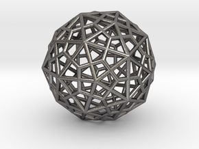 0400 Truncated Icosahedron + Pentakis Dodecahedron in Polished Nickel Steel