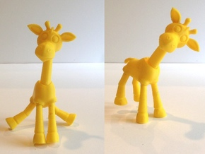 Stumbles the Balance Giraffe in Yellow Processed Versatile Plastic