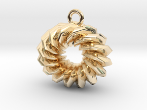 Old Fashioned Donut in 14k Gold Plated Brass