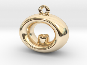 Candle Holder Pendant in 14K Yellow Gold