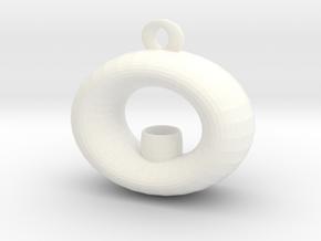 Candle Holder Pendant in White Processed Versatile Plastic
