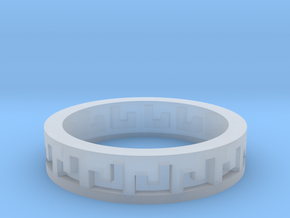 Greek Ring in Smooth Fine Detail Plastic