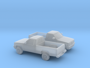 1/160 2X 1987-90 Dodge Dakota in Smooth Fine Detail Plastic