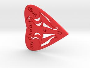 HEART 2- My Heart Sings 4 U in Red Processed Versatile Plastic
