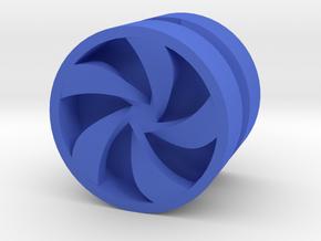 PINWHEEL_1814RS_RIGHT - LEGO-compatible Custom Rim in Blue Processed Versatile Plastic