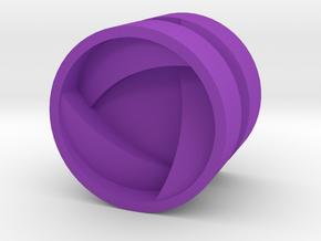 SHIELD_1814RS_RIGHT - LEGO-compatible Custom Rims in Purple Processed Versatile Plastic