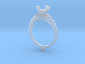 CC67-Engagement Ring Printed Wax. in Smoothest Fine Detail Plastic