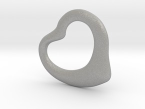 Open Heart Pandent, large in Aluminum