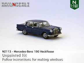 Mercedes-Benz 190 (N 1:160) in Smooth Fine Detail Plastic