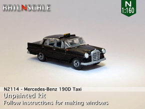 Mercedes-Benz 190D Taxi (N 1:160) in Frosted Ultra Detail