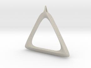 Triangle Pendant in Natural Sandstone