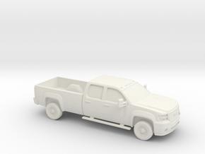 1/87 2006-13 GMC Sierra 3500 HD Long Box in White Natural Versatile Plastic