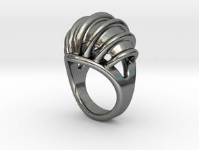 Ring New Way 15 - Italian Size 15 in Fine Detail Polished Silver