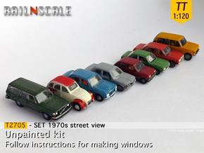 SET 1970s street view (TT 1:120) in Smooth Fine Detail Plastic