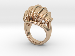Ring New Way 21 - Italian Size 21 in 14k Rose Gold Plated Brass