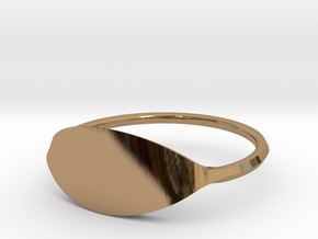 Eye Ring Size 10.5 in Polished Brass