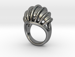 Ring New Way 23 - Italian Size 23 in Fine Detail Polished Silver