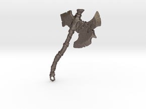 Metallic Axe in Polished Bronzed Silver Steel