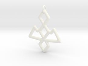 Twin Peaks Owl Cave Symbol Pendant in White Processed Versatile Plastic