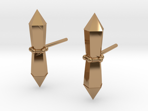 Tribalcelt-studs in Polished Brass