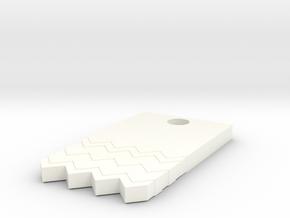 Black Lodge Earring in White Processed Versatile Plastic