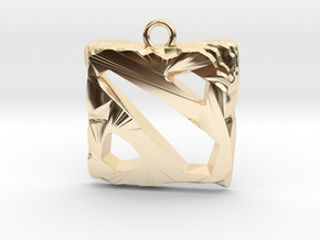 DOTA 2 Emblem in 14k Gold Plated Brass