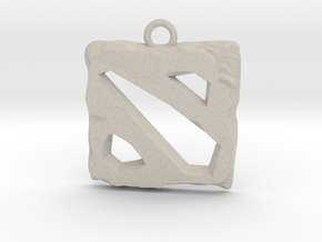 DOTA 2 Emblem in Natural Sandstone