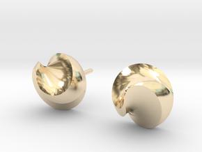 Swirl spike studs in 14k Gold Plated Brass