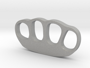 Knuckle Duster Ornament Paper Weight - With Custom in Aluminum