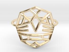 Fearless Warrior Ring (Medium) in 14k Gold Plated Brass
