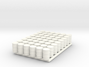 Barrel 01. HO Scale (1:87) in White Processed Versatile Plastic