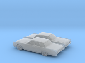 1/160 2X 1962 Lincoln Continental Sedan in Smooth Fine Detail Plastic