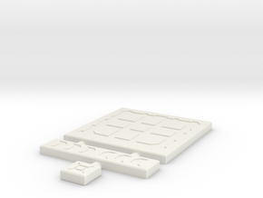 SciFi Tile 04 - Techno plate in White Strong & Flexible