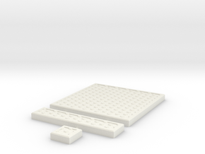 SciFi Tile 09 - Hex Plate in White Natural Versatile Plastic
