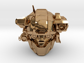 Halo 5 Argus/linda 1/6 scale helmet in Polished Brass