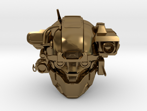 Halo 5 Argus/linda 1/6 scale helmet in Polished Bronze