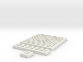SciFi Tile 11 - Running Bond Walkway in White Natural Versatile Plastic