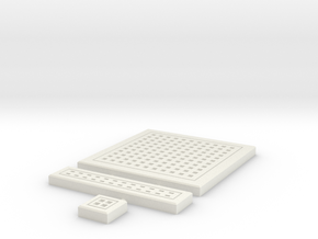 SciFi Tile 12 -  Square Grating in White Strong & Flexible