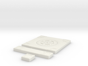 SciFi Tile 13 - Manhole in White Natural Versatile Plastic