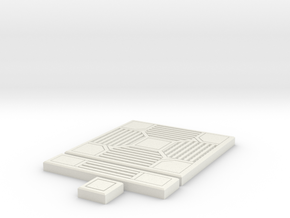 SciFi Tile 14 - 4-way grating in White Strong & Flexible
